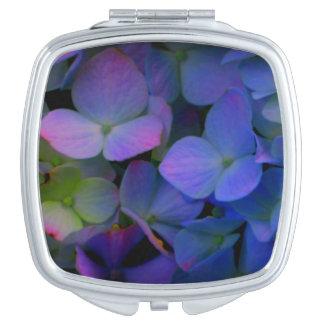 Violet purple hydrangeas mirrors for makeup