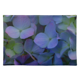 Violet purple hydrangeas placemat