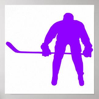 Violet Purple Ice Hockey Poster