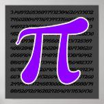 Violet Purple Pi Symbol Posters
