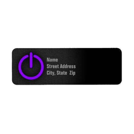Violet Purple Power Button