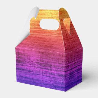 Violet, Purple, Red and Orange Gradient Textured Favor Box