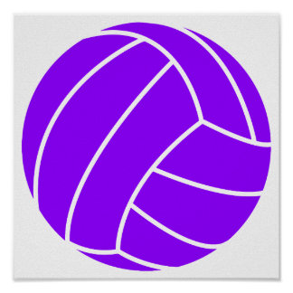Violet Purple Volleyball Poster