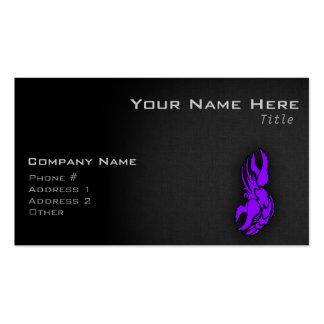 Violet Purple Zodiac Cancer Sign Business Card
