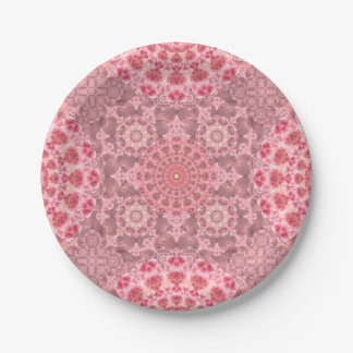 Violet Relief Pattern 7 Inch Paper Plate