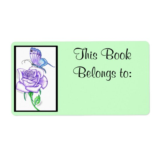 Violet Rose Book Ownership Label