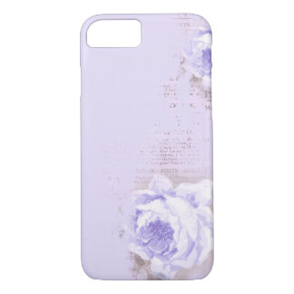 violet rose on old newspaper iPhone 8/7 case