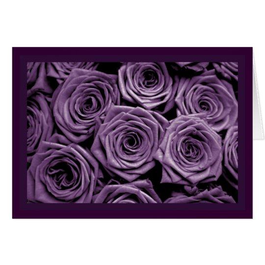 Violet Roses Card