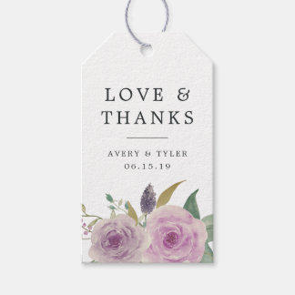 Violet & Sage Wedding Thank You Favor Pack Of Gift Tags