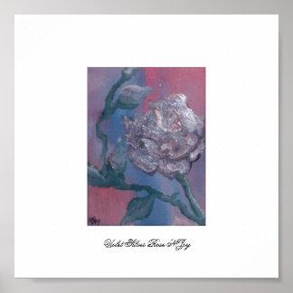Violet  Silver Rose NJoy Poster