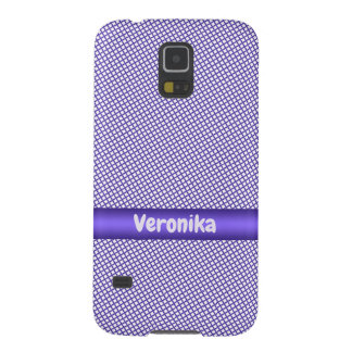 Violet small plaid pattern. galaxy s5 case