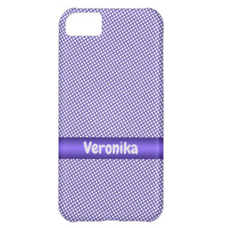 Violet small plaid pattern. iPhone 5C case