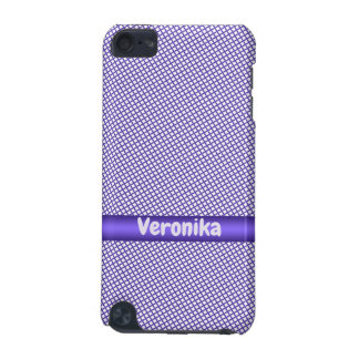 Violet small plaid pattern. iPod touch 5G cover