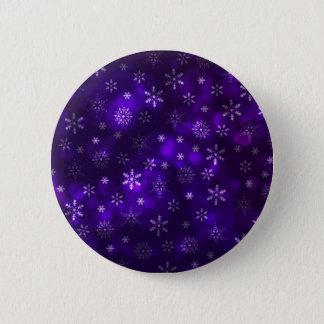 Violet Snowflakes 2 Inch Round Button