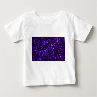 Violet Snowflakes Baby T-Shirt
