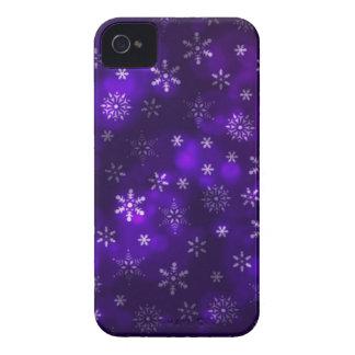 Violet Snowflakes Case-Mate iPhone 4 Case