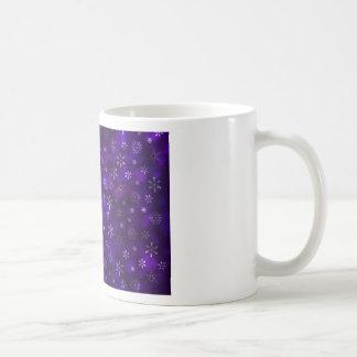 Violet Snowflakes Coffee Mug