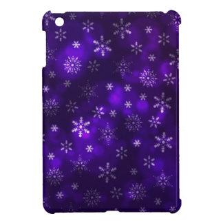 Violet Snowflakes iPad Mini Case
