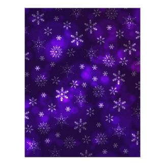 Violet Snowflakes Letterhead