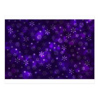Violet Snowflakes Postcard