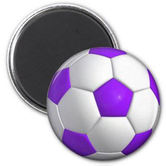 Violet Soccer Ball Magnet