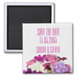 Violet Spring Bouquet Save the date Refrigerator Magnet