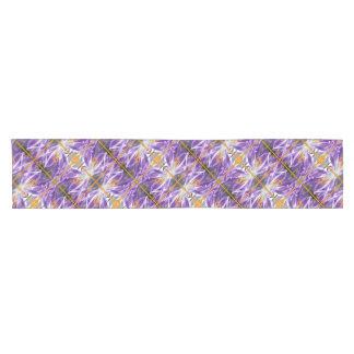 Violet spring crocus 01.o.P.02 Short Table Runner