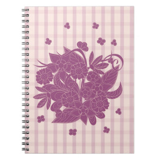violet square pattern with to summer bouquet notebooks
