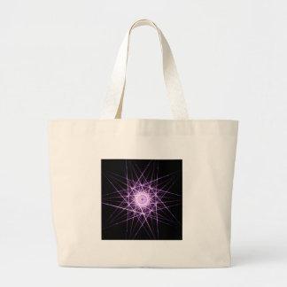 Violet star tote bag