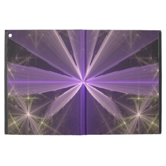 "Violet Star Flower Abstract Fractal iPad Pro 12.9"" Case"