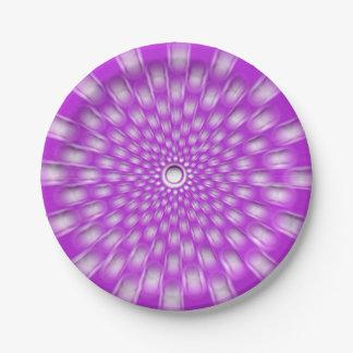 Violet starburst mandala paper plates