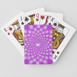 Violet starburst mandala playing cards