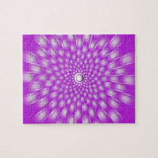 Violet starburst mandala puzzle