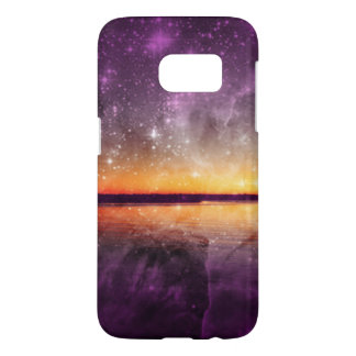Violet Stars And Sunset Lake Galaxy S7 Case