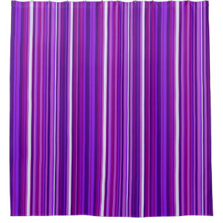 Violet Striped Shower Curtain