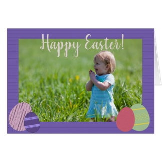 Violet Stripes and Easter Eggs Card