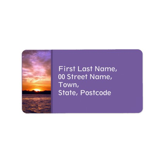 Violet Sunset Address Label