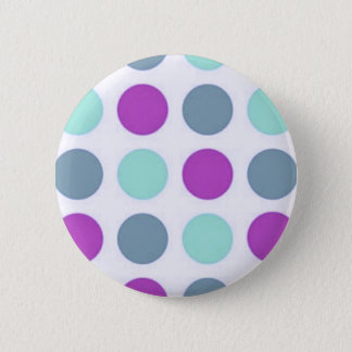 Violet Teal Polkadots 2 Inch Round Button