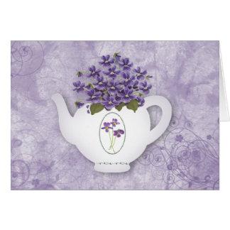 Violet Teapot Note Card
