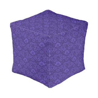 Violet texture pouf