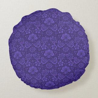 Violet texture round pillow