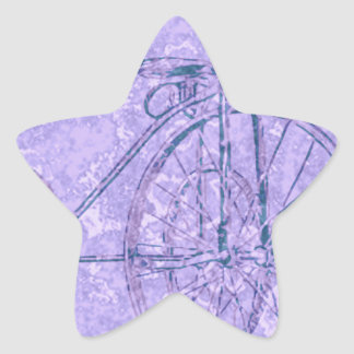 violet tricycle star sticker