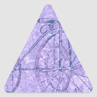 violet tricycle triangle sticker