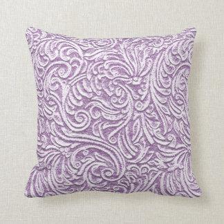 Violet Tulip Purple Floral Tin Tile Rustic Look 1 Pillows
