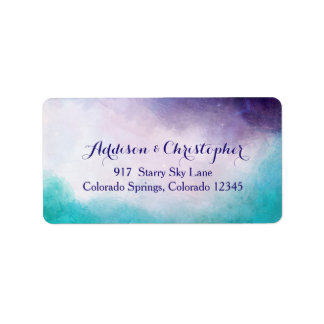 Violet & Turquoise Watercolor Personalized