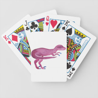 Violet Velociraptor Bicycle Playing Cards