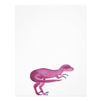 Violet Velociraptor Letterhead