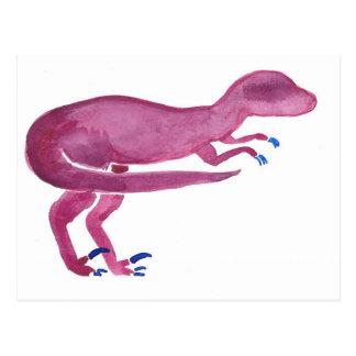 Violet Velociraptor Postcard