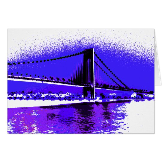 Violet Verrazano Bridge card
