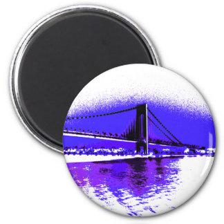 Violet Verrazano Bridge magnet